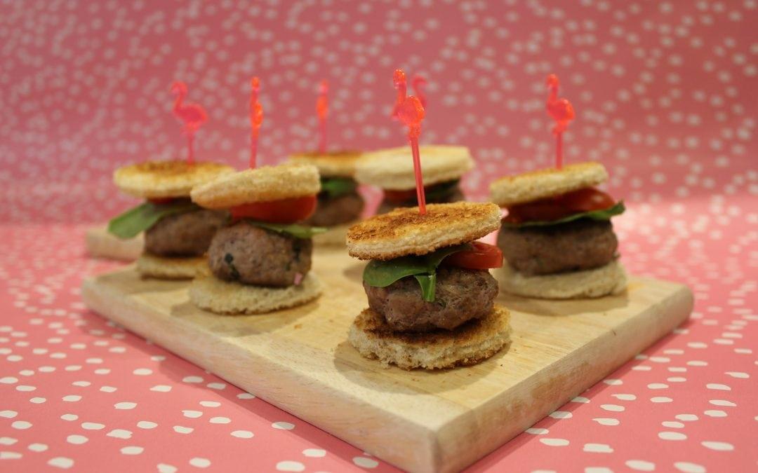 Homemade mini lamb burgers (makes 12)